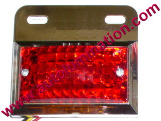 Dual Ciircuit Truck Trailer Side Marker Led Light Red