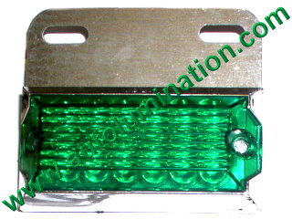 Dual Ciircuit Truck Trailer Side Marker 12 Led Light Green