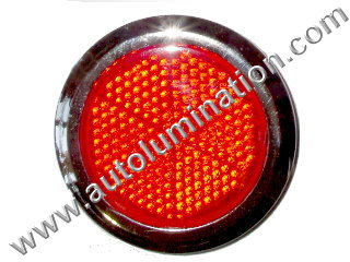 Red Stick On Safety Reflector