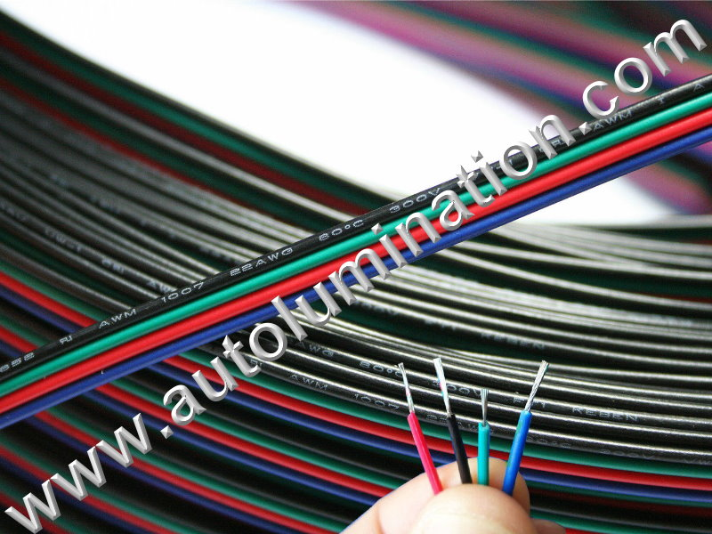 22 Gauge 4 Conductor RGB Wire