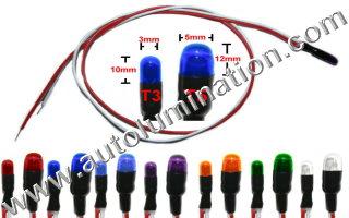 12 Volt Snake Light Glass Filament 1.2 watt Wire Leads Indicator