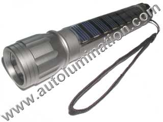 Solar Led Rechargeable Flashlight
