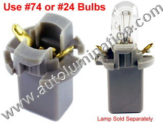 Instrument Panel Light T21 T1 3/4 Long Wedge Twist Lock Bulb Holder Socket Grey manual heat control  jeep grand Cherokee