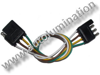 4 wire way Trailer Connector Male Female